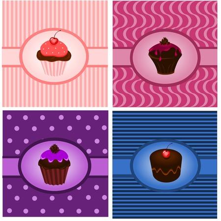 Cupcake vintages Illustration