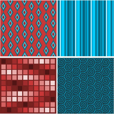 Set of abstract textures Ilustrace
