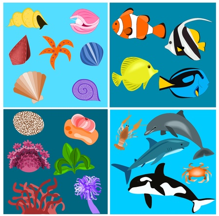 Sea set Stock Vector - 13351010