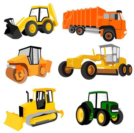 traktor: Arbeitsmaschinen Illustration