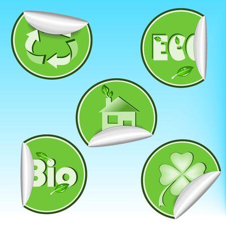 Set of eco stickers Stock Vector - 13720767