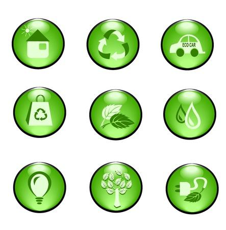 Eco icons Ilustracja