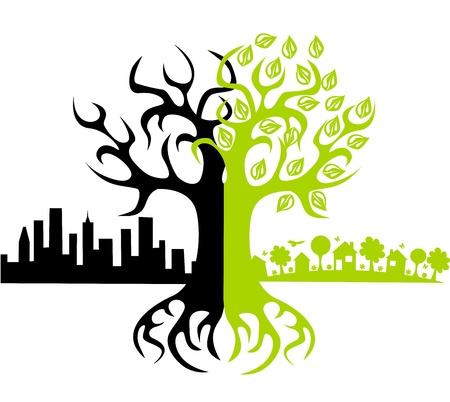 contaminacion ambiental: Eco del mundo? Vectores