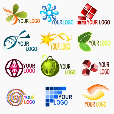leaf logo: Logo elements 2