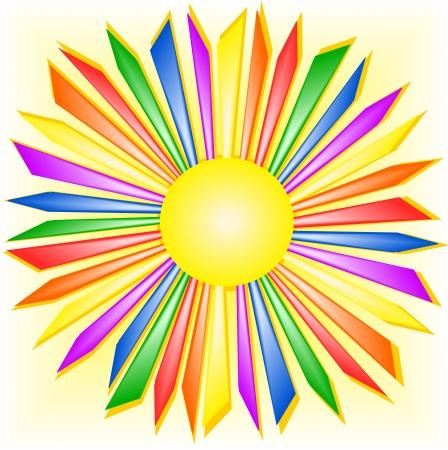 booming: Rainbow sun