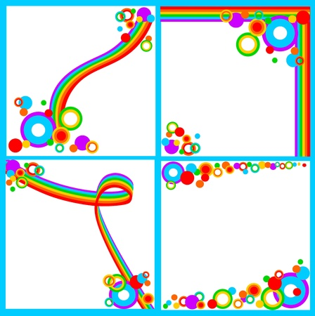 Set of rainbow backgrounds Stock Vector - 14037288