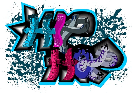 Graffiti hip hop Stock Vector - 14268286