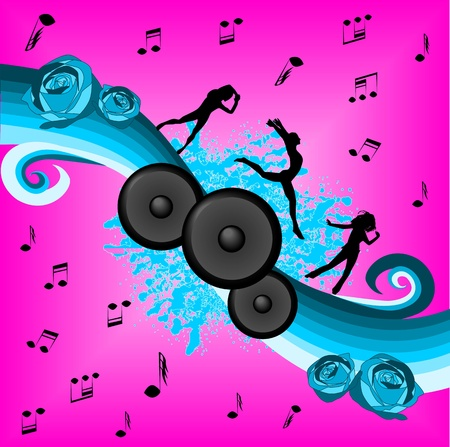 Music and dance Ilustrace