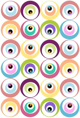 Pattern with circles Ilustrace