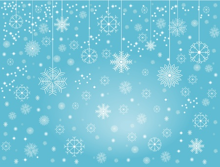 falling snow: Snowflakes 1