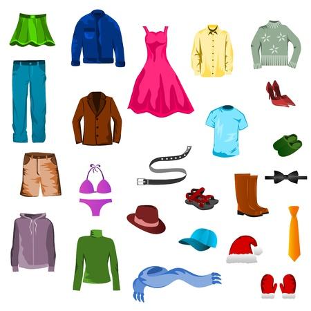 Clothes set Ilustrace