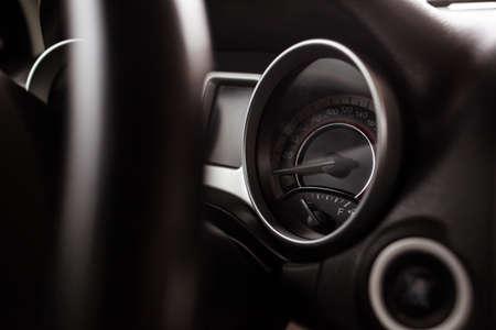 Close up shot of car dashboard