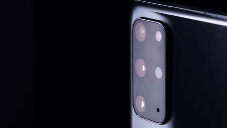 Smartphone close up of the camera Archivio Fotografico