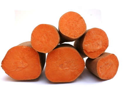 several sweet potato halves