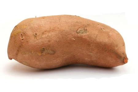 one whole sweet potato Stock Photo