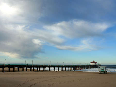 Clouds above the Pier in Manhattan Beach, California