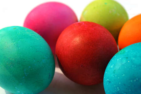 Bright and colorful Easter eggs