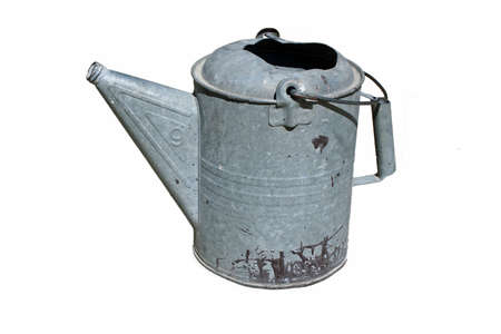 Isolated image of a metal watering can