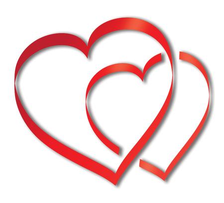 Zeichen für die Liebe, zwei Herzen überspringt Standard-Bild - 54092297
