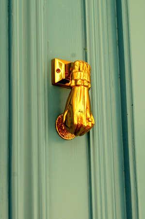 Classic Brass Door Knocker Fist photo