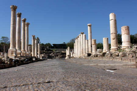 Mainstreet with columns at Bet She'an National Park, Israel