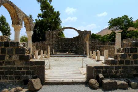 Ancient ruins at Kursi National Park in Israel