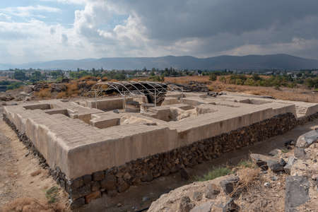 Egyptian Governor`s home at Beit She`an National Park in Israel.