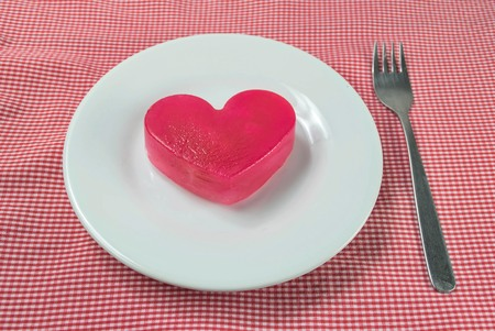 ice heart ready for serve photo