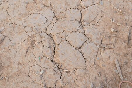 dried ground covered with cracks. background for design Stock Photo