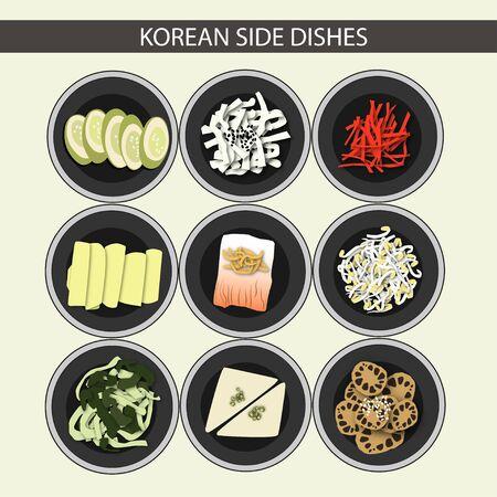 Korean Side Dishes Vektorové ilustrace