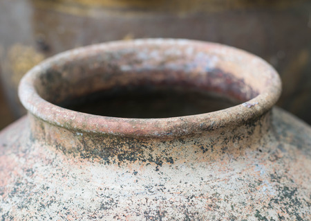 Old asian traditional clay pots