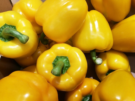 yellow bell pepper so delicious and colorful Stock Photo