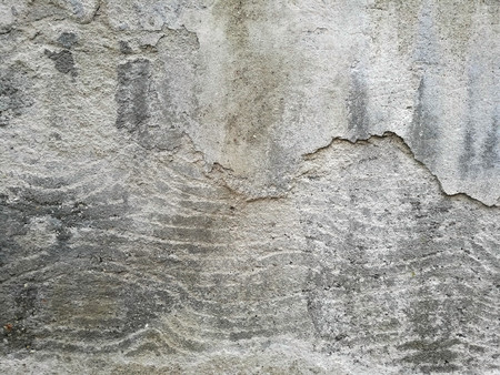 The texture of the concrete and walls and building