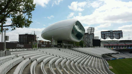 commentary: Lords Cricket Ground, Londres Foto de archivo