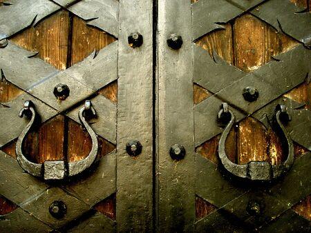 door bolt: imagen del antiguo medieval  Foto de archivo