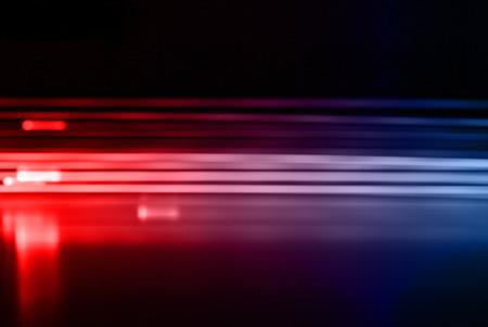 light red: Emergency wehicle Stock Photo