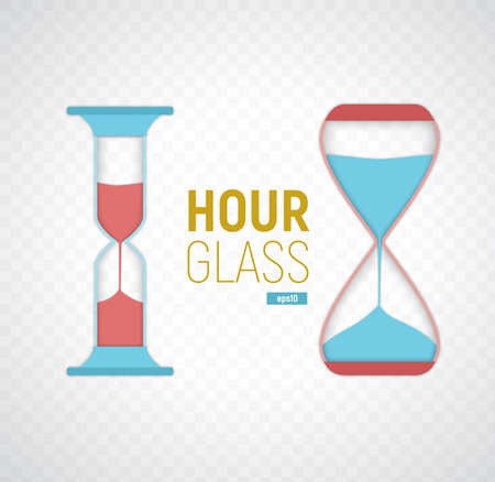 Modern vector illustration of the hourglasses.