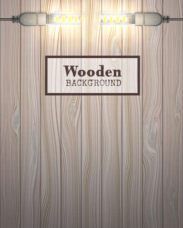 wooden background with USB LED lamps