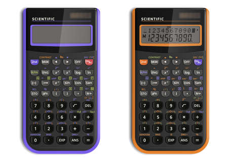 Scientific calculator with solar cell Stock Illustratie