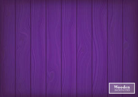 Wood textured background in the form of wooden boards.Vector illustration in violet tones.
