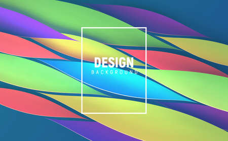 Vector illustrated background with dynamic petal shapes. Picture for banner, presentation, brochure. Ilustrace