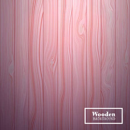 Vector textured background in the form of wooden boards. Realistic backdrop on which the light source is directed from above.