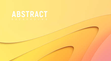 Light paper cut gradient composition. Realistic background for business presentations, flyers, posters. Space for text, copy space. Modern craft, origami vector illustration.