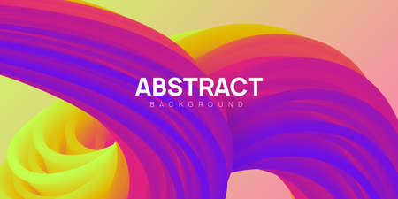Bright and colorful abstract background in yellow, pink and purple colors. Vibrant wavy shapes, flow banner, brochure, web page.