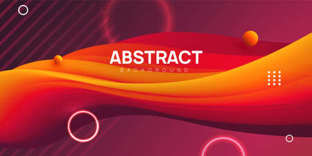 Modern wavy abstract background. Colorful 3d liquid shapes, flow banner, brochure, web page. Fluid vector illustration. 向量圖像