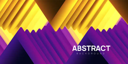 Modern wavy abstract background. Colorful 3d triangle shapes, flow banner, brochure, web page. Vector illustration.