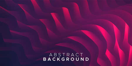 Wavy and colorful abstract background in red. Bright fluid shapes, flow banner, brochure, web page. Ilustracja