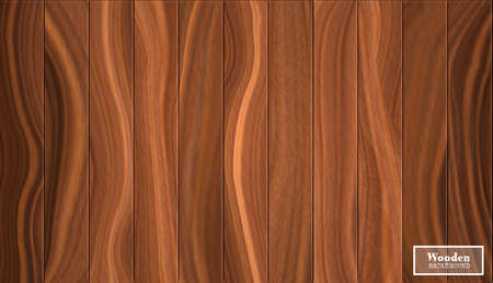 Big walnut background in the form of wooden boards. Vector textured illustration in dark broun shades.