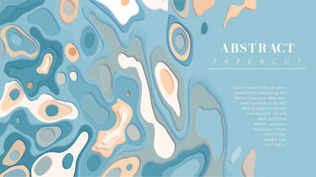 Abstract background in pastel shades. Papercut vector. Copyspace and place for your text. Illustration for banner, poster, card, flyer, presentation, etc.