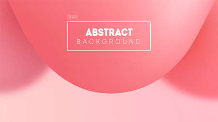 Chewing gum style abstract vector illustration with blurred background. Soft pink shades. Minimal gradients shapes. Copy space and place for your text.